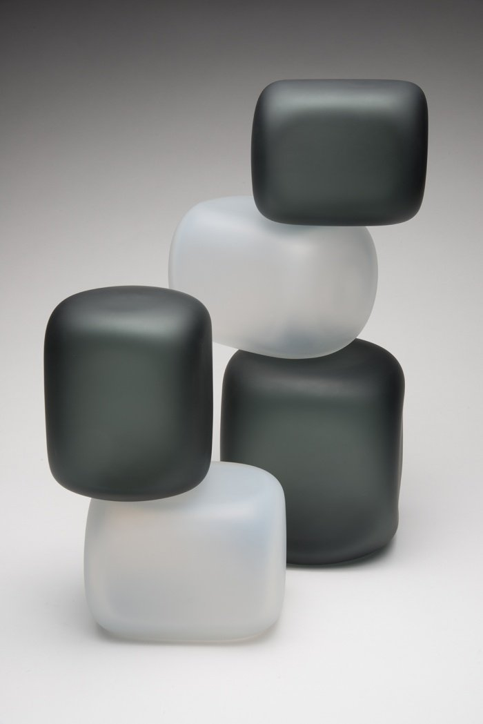 Residential Custom Glass Art by Christopher Jeffries - Stacked Series