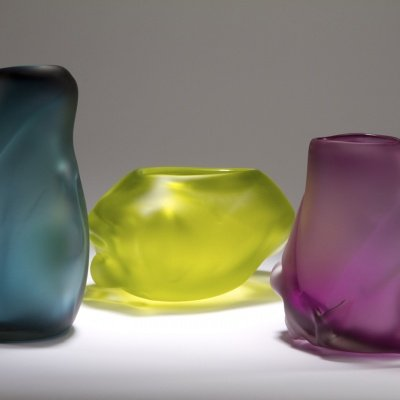 Residential Custom Glass Art by Christopher Jeffries - Forms in Nature Series
