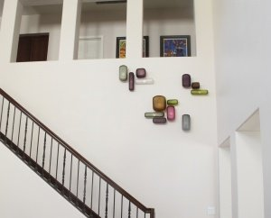 Residential Custom Wall Mounted Glass Art by Christopher Jeffries - Geometric Series