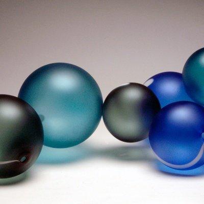 Handblown Glass, Ball Sculpture