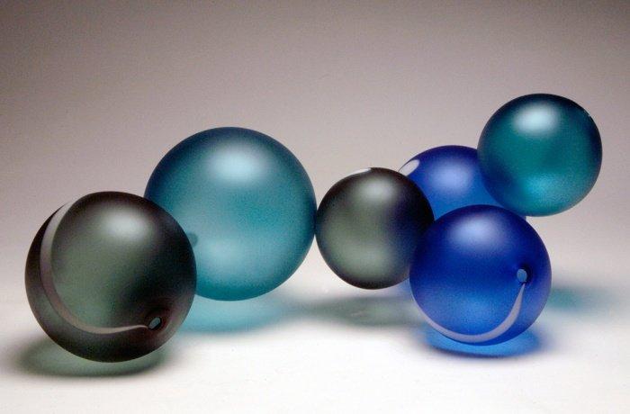 Custom Glass Art by Christopher Jeffries - Glass Ball Sculpture