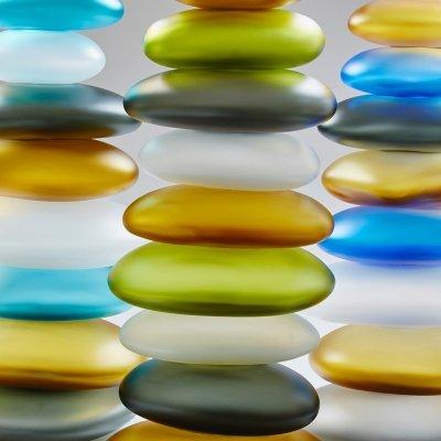 Custom Glass Art by Christopher Jeffries - Stacked Rocks