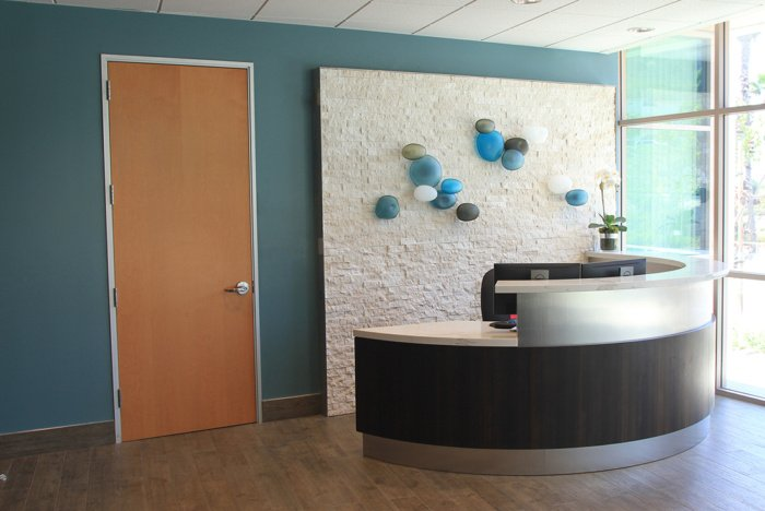 Commercial Custom Wall Mounted Glass Art by Christopher Jeffries - Rock Series